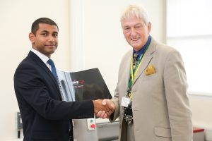 Evo Hannan MYP Design Teacher and Martyn Hale Chairman at HME Technology