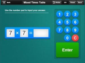 Multiplication screen