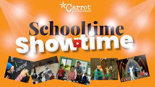 Carrot Productions announce a brand new arts package for schools this Christmas